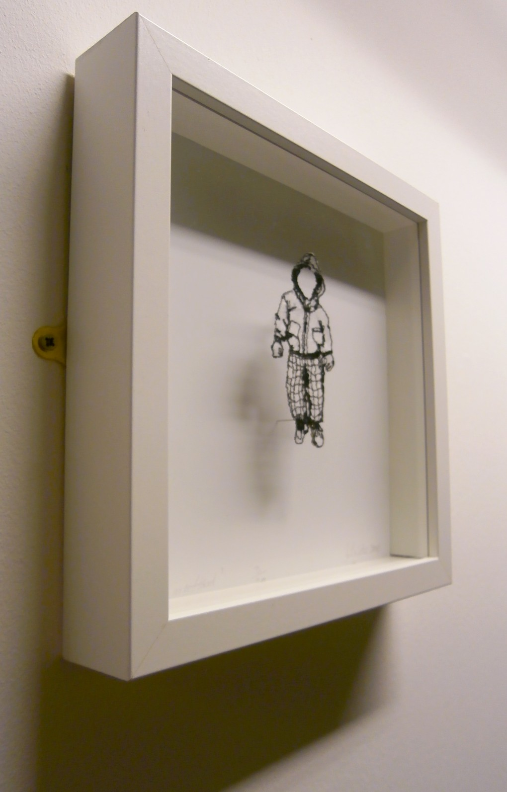 Delicate wire art, displayed at Derby Hospital