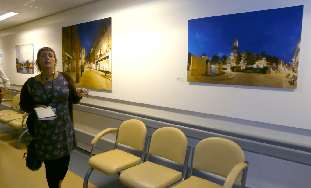 Fi Burke leads the tour around Royal Derby Hospital
