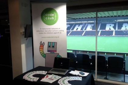 Code Club stand at Pride Park