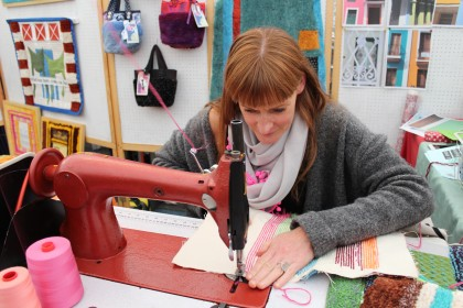 Traditional stitching and sewing contrast