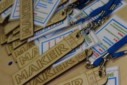 Maker badges ready and wating